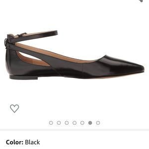 Franco Sarto Leather Ankle Strap Flat